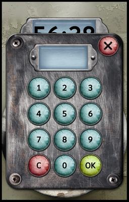 Unlock! App - Code Eingabefeld