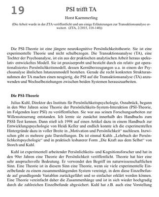 Bestellung #19 - 16 Seiten - Preis 3,00 € - Kämmerling - PSI trifft TA