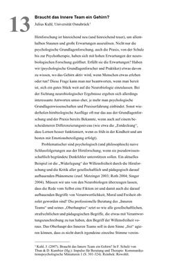 Bestellung #13 - 20 Seiten - Preis: 3,00 € - Braucht das Innere Team ein Gehirn?
