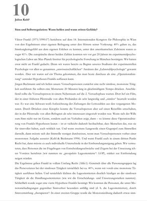 Bestellung #10 - 23 Seiten - Preis: 3,00 € - Sinn und Selbstregulation: Wann helfen und wann stören Gefühle?