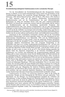 Bestellung #15 - 11 Seiten - Preis: 3,00 € - Persönlichkeitspsychologische Funktionsanalyse in der systemischen Therapie