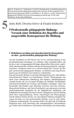 Bestellung #5 - 14 Seiten - Preis: 3,00 € - Professionelle pädagogische Haltung: Versuch einer Definition des Begriffes und ausgewählte Konsequenzen für Haltung