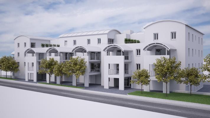 Maquette blanche d'un projet immobilier sur la commune de Brives-Charensac en Haute-loire(43)