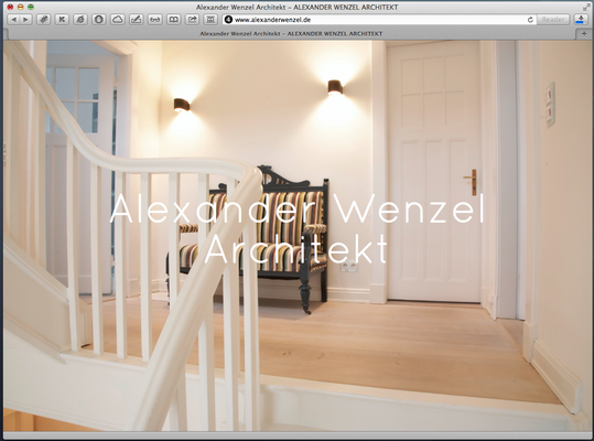 Website Architekt Alexander Wenzel