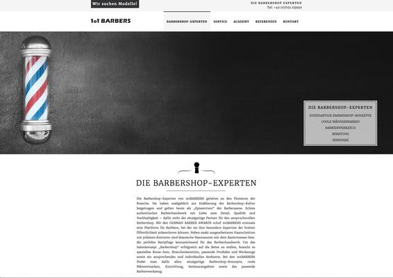 Webseite 1o1 Barbers