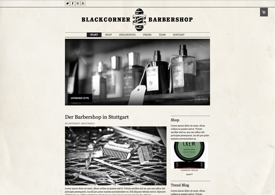 Onlineshop Barbershop