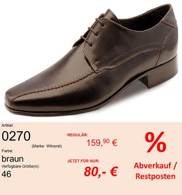Marke: WILVORST // Modell: 0270 // Farbe: D.-BRAUN // Größe: 46
