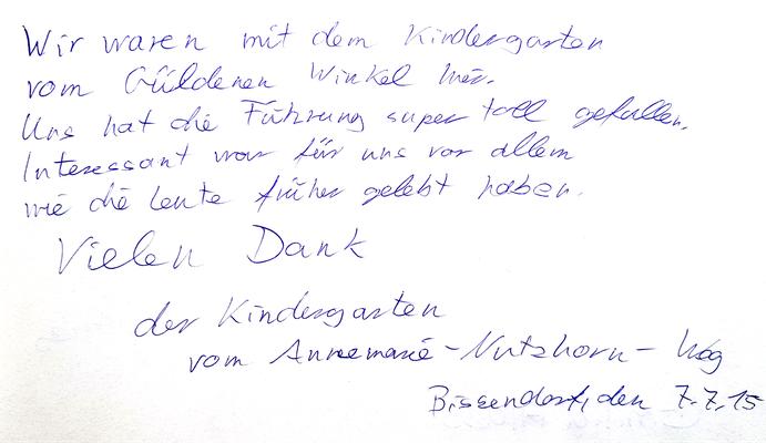 Eintrag der KiTa Güldener Winkel in Bissendorf