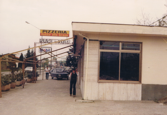 La pizzeria Pan Pan com'era una volta esternamente.