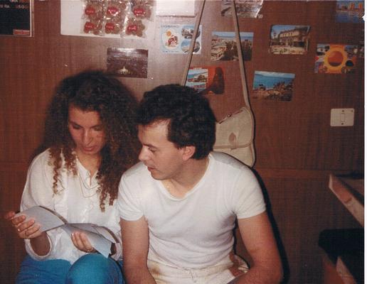 Maria e Mario negli anni '80.