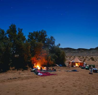 Trek et Qi Gong dans le Sahara marocain