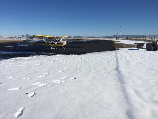 Neige sur Aérodrome Saint Flour
