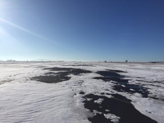 Piste enneigée Aérodrome