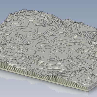 土地の形状再現(メガソーラー計画用)