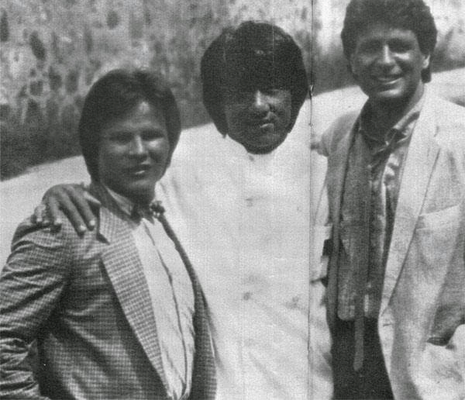 "Von links Benny ""The Jet"" Urquidez, Jackie Chan, Keith Vitali"