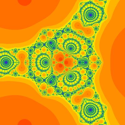 Konvergenzgeschwindigkeit z^3-1=0,  King-Verfahren,  beta=-1, B=[-20, 20]x[-20, 20]