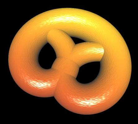 3D Brezel mit leichter Textur
