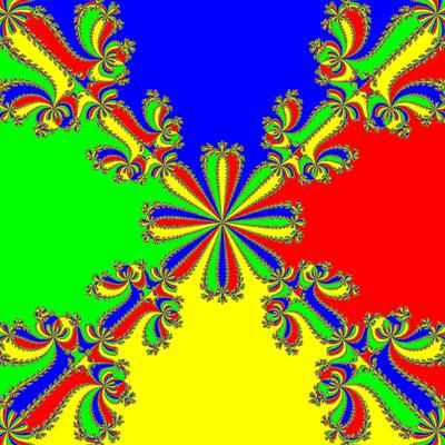Basins of Attraction z^4-1=0, Whittaker II -Verfahren