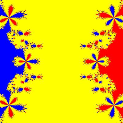 Basins of Attraction z^3-z=0, Whittaker II-Verfahren