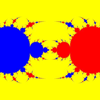 Basins of Attraction z^3-z=0, Newton-Verfahren, a=1.988, B=[-50, 50]x[-50, 50]