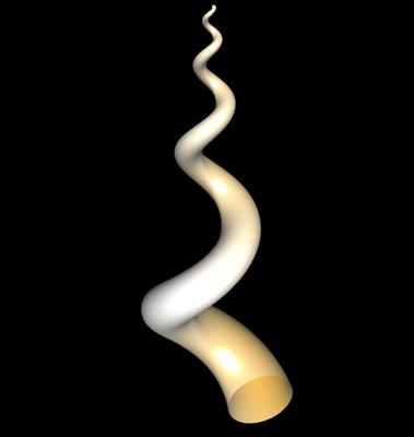 3D Wurmschnecke