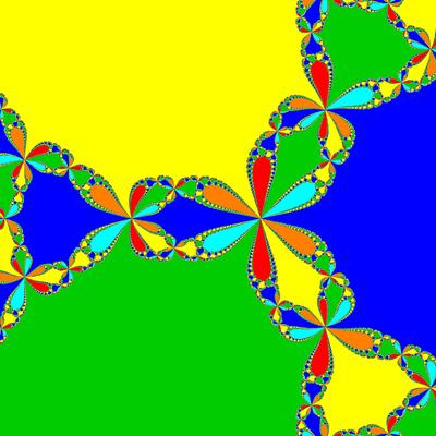 Basins of Attraction z^6+10z^3-8, Newton-Verfahren
