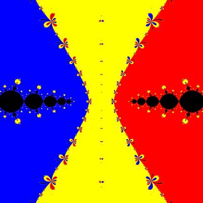 Basins of Attraction z^3-z=0, King-Verfahren, beta=-2.6