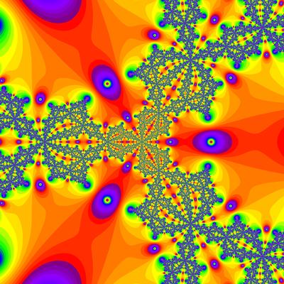 Konvergenzgeschwindigkeit z^3-1=0,  Newton-Verfahren modifiziert, a=1.9