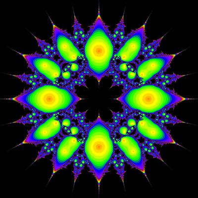 Konvergenzgeschwindigkeit z^4-1=0, Sekanten-Verfahren