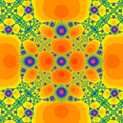 Konvergenzgeschwindigkeit z^4-1=0, King-Verfahren, beta=-1