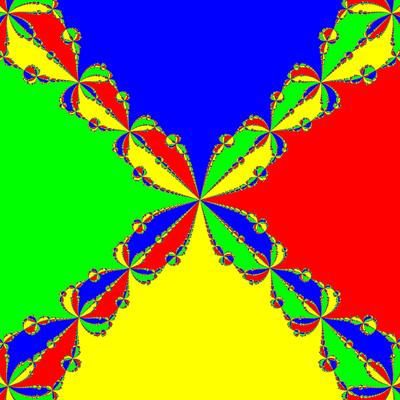 Basins of Attraction z^4-1=0, Chun III -Verfahren