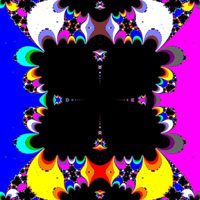 Basins of Attraction sin(z^2-1)=0 King-Verfahren, beta=-3, B=[-0.6, 0.6]x[-0.6, 0.6]