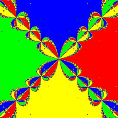 Basins of Attraction z^4-1=0, Feng -Verfahren