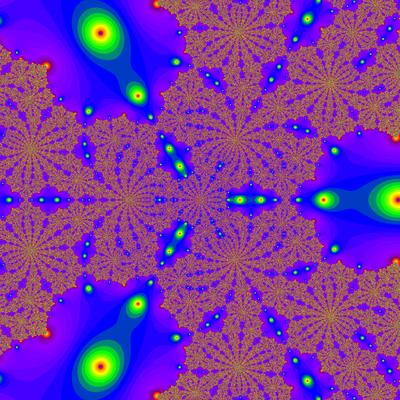 Konvergenzgeschwindigkeit z^3-1=0,  Householder-Verfahren modifiziert, a=1.815