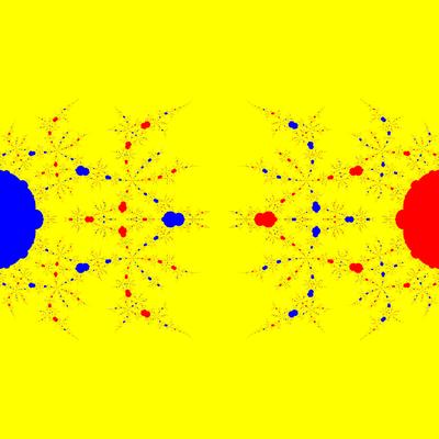 Basins of Attraction z^3-z=0, Schröder-Verfahren, a=1.9, B=[-5, 5]x[-5, 5]