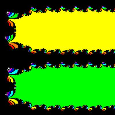 Basins of Attraction exp(z)-1=0 Householder-Verfahren, Zoom