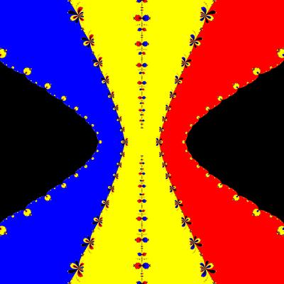 Basins of Attraction z^3-z=0, King-Verfahren, beta=-2.2