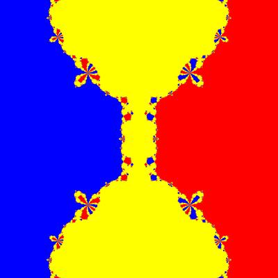 Basins of Attraction z^3-z=0, King-Verfahren, beta=-0.9