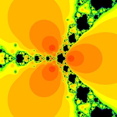 Konvergenzgeschwindigkeit z^3-1=0,  Chun-Kim II -Verfahren modifiziert, a=1.9
