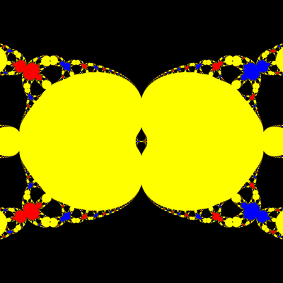 Basins of Attraction z^3-z=0, Halley-Verfahren, a=1.98, B=[-50, 50]x[-50, 50]