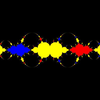 Basins of Attraction z^3-z=0, Schröder-Verfahren, a=1.98, B=[-1.5, 1.5]x[-1.5, 1.5]