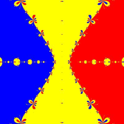 Basins of Attraction z^3-z=0, King-Verfahren, beta=-3