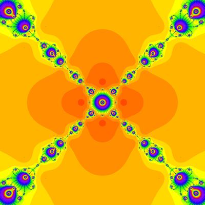 Konvergenzgeschwindigkeit z^4-1=0, Rafiq-Rafiullah-Verfahren