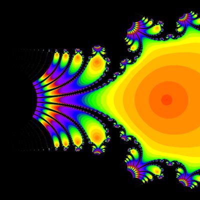 Konvergenzgeschwindigkeit exp(z)-1=0 Newton-Verfahren, Zoom