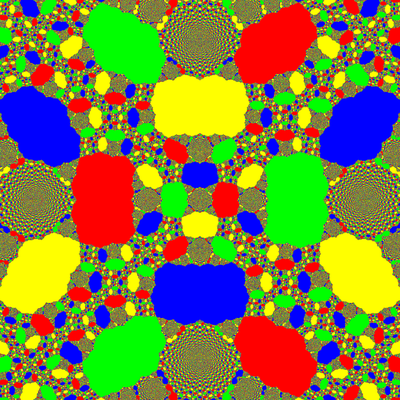 Basins of Attraction z^4-1=0, King-Verfahren, beta=-1.8 B=[-10, 10]x[-10, 10]