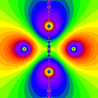 Konvergenzgeschwindigkeit z^2-1=0, Newton-Verfahren modifiziert mit a=1.9