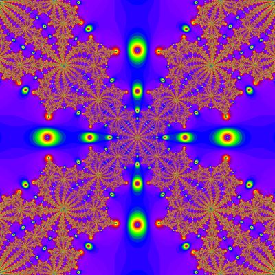 Konvergenzgeschwindigkeit z^4-1=0, Newton-Verfahren modifiziert, a=1.9