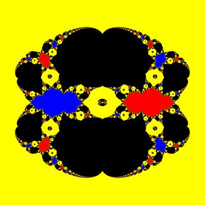 Basins of Attraction z^3-z=0, Halley-Verfahren, a=1.9, B=[-50, 50]x[-50, 50]