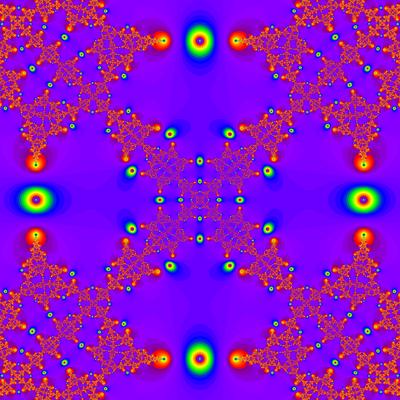 Konvergenzgeschwindigkeit z^4-1=0, Halley-Verfahren modifiziert, a=1.9