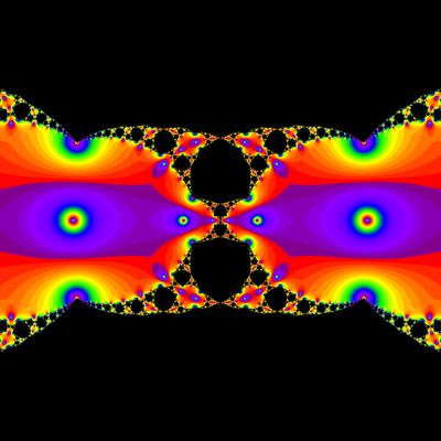 Konvergenzgeschwindigkeit z^2-1=0, Halley-Verfahren modifiziert mit a=1.9